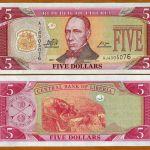 Liberia  Africa 5 dollars 2011 P26-New UNC
