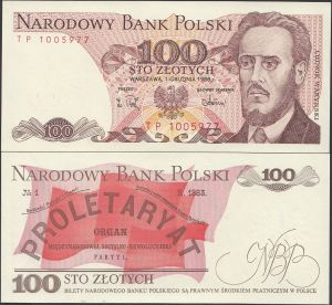 Poland 100 Zlotych 1988 Banknote P-143 for Sale