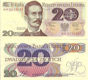 Poland 20 Zlotych 1982 R. Banknote P149 for Sale