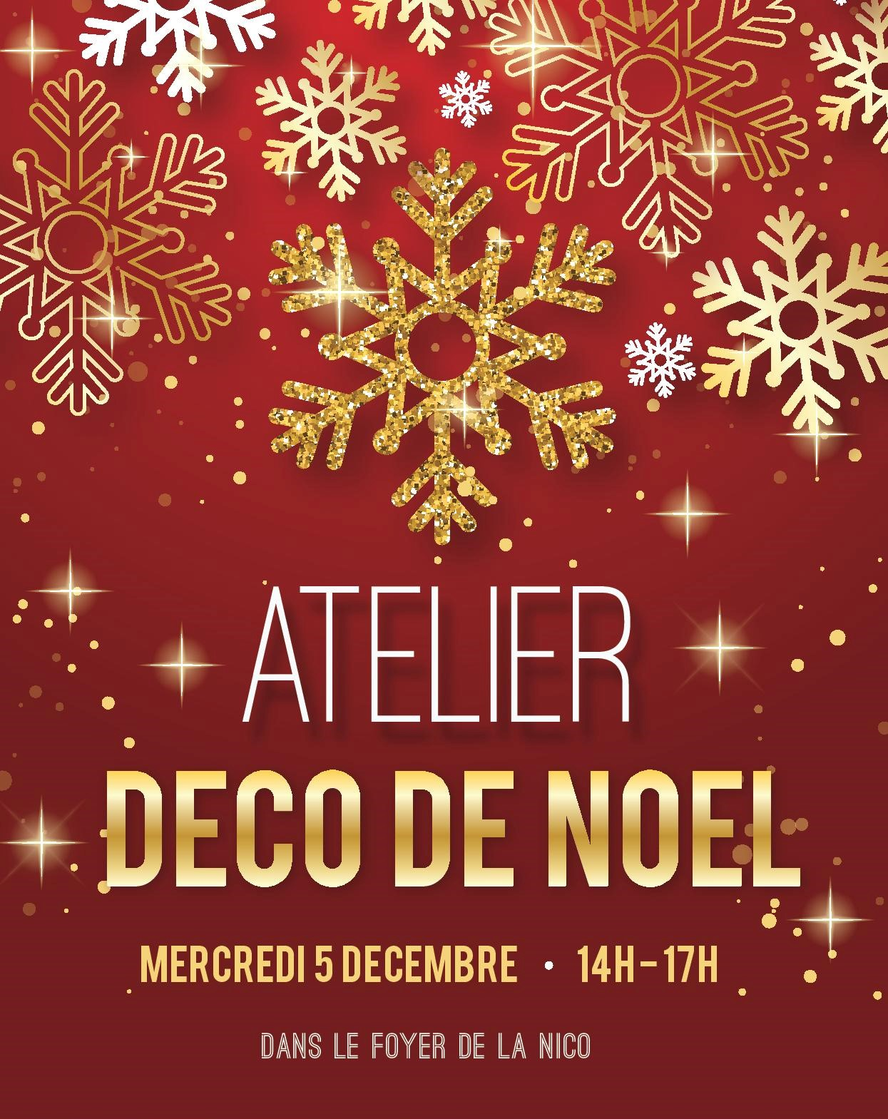 Atelier Decoration De Noel Atelier Décorations De Noël