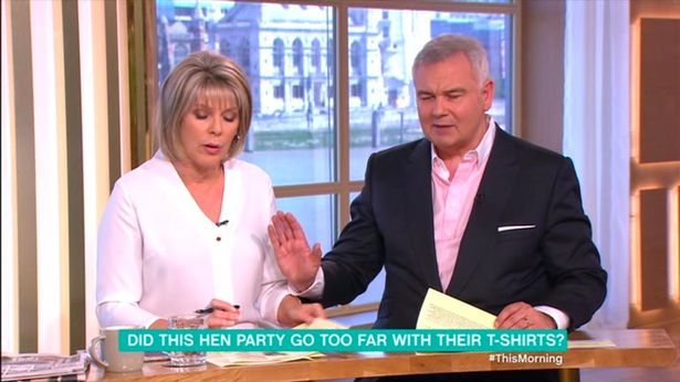 Eamonn Holmes Shushes Wife Ruth Langsford Live On This Morning