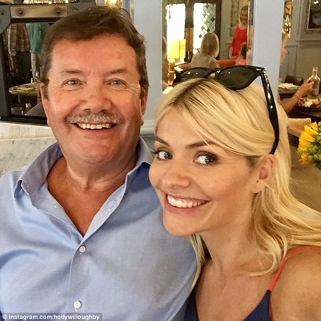 Holly Willoughby Delights Fans With Selfie Of Her Father As Late Father's Day Meal