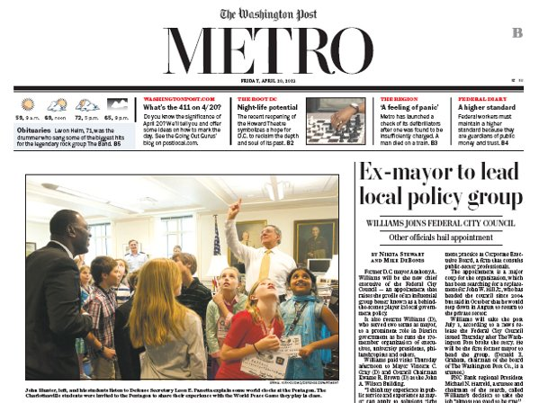 Metro Section Newspaper In Education