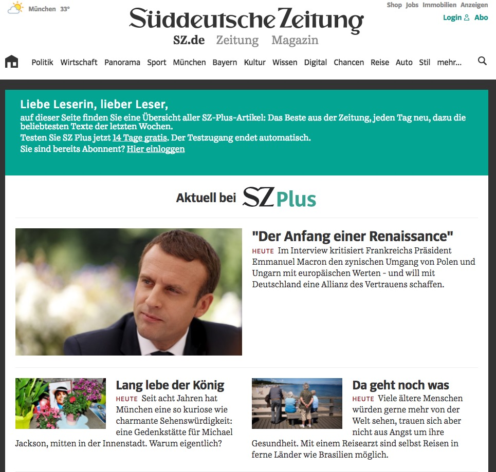 Süddeutsche Zeitung Shop This Paper Has A Text Marketing Editor Who Compares The Job