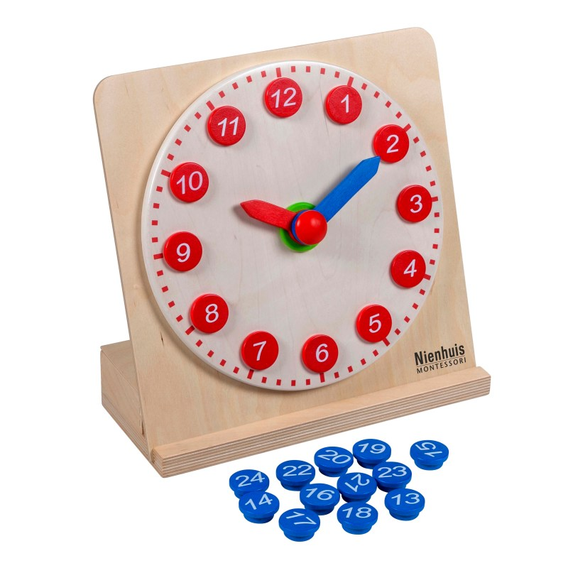 Infant Toddler Books Clock With Movable Hands Nienhuis Montessori