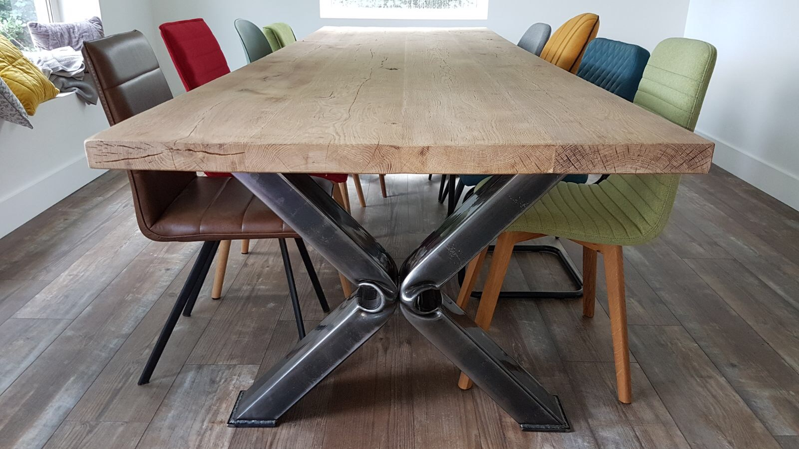 Oud eiken tafel caivano robuustetafels