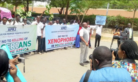protest against xenophobia by Nigerian Students