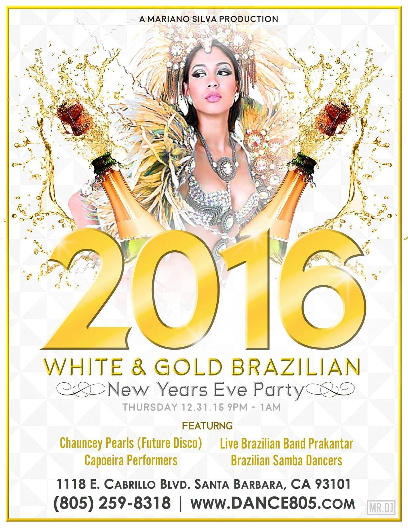Cabrio Pavillon White Gold Brazilian New Year S Eve Party Cabrillo Pavilion
