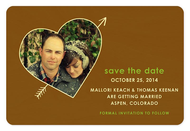 Heart Photo Frame Save the Date \u2039 Wedding « Night Owl Paper Goods