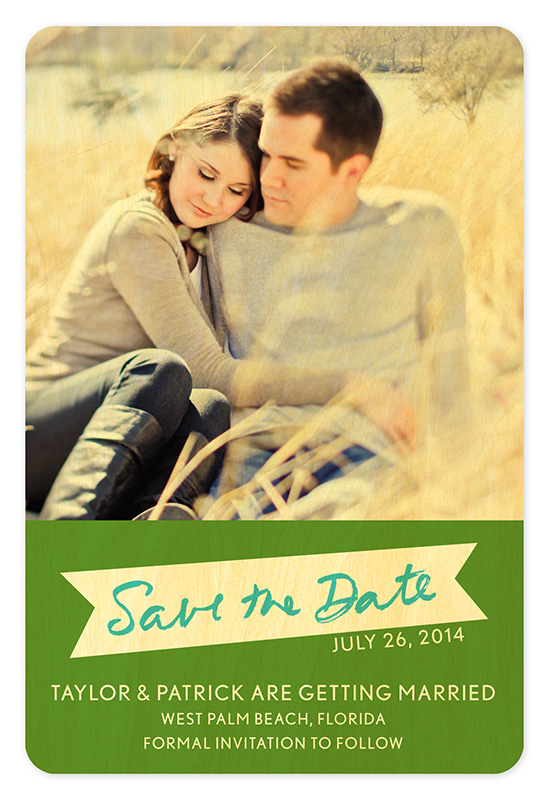 Wood Banner Save the Date \u2039 Wedding « Night Owl Paper Goods