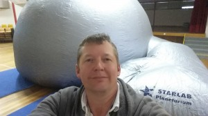 A 'selfie' with a Starlab planetarium during National Science Week 2014. Thanks to Questacon for the loan of the planetarium for my school.