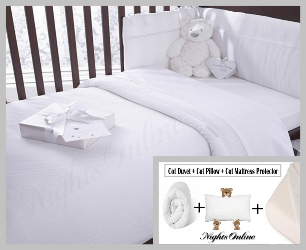 Cot Mattress Protector Cot Bed Package Deal Includes Cot Duvet 43 Cot Pillow