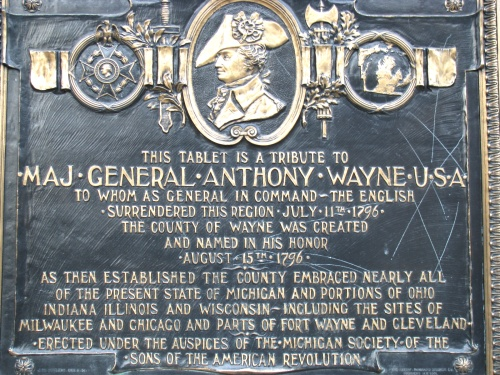 anthony wayne plaque