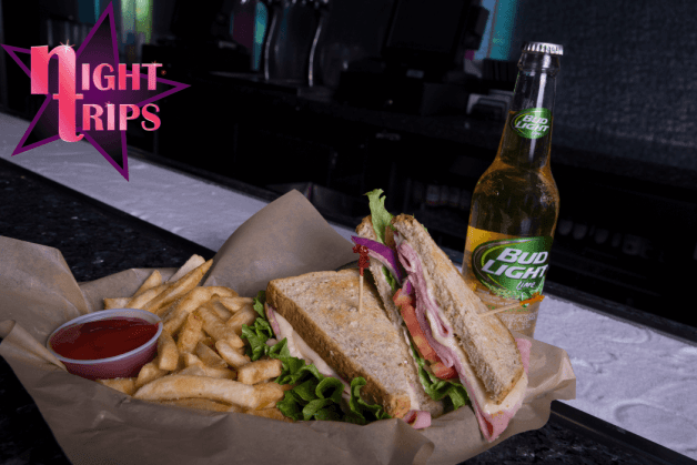 Night Trips - Sandwich and Drinks