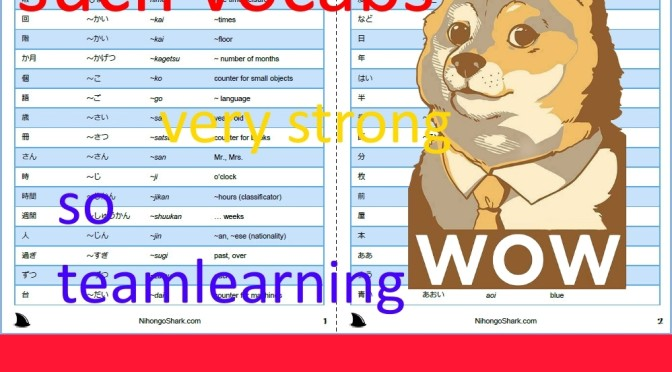 JLPT N5 Vocabulary List - PDF, Flashcards, Excel,  Audio Formats