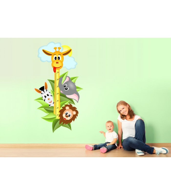 Wandtattoo Küche Amazon 040 Wandtattoo Messlatte Maßstab Kind Kinderzimmer Safari
