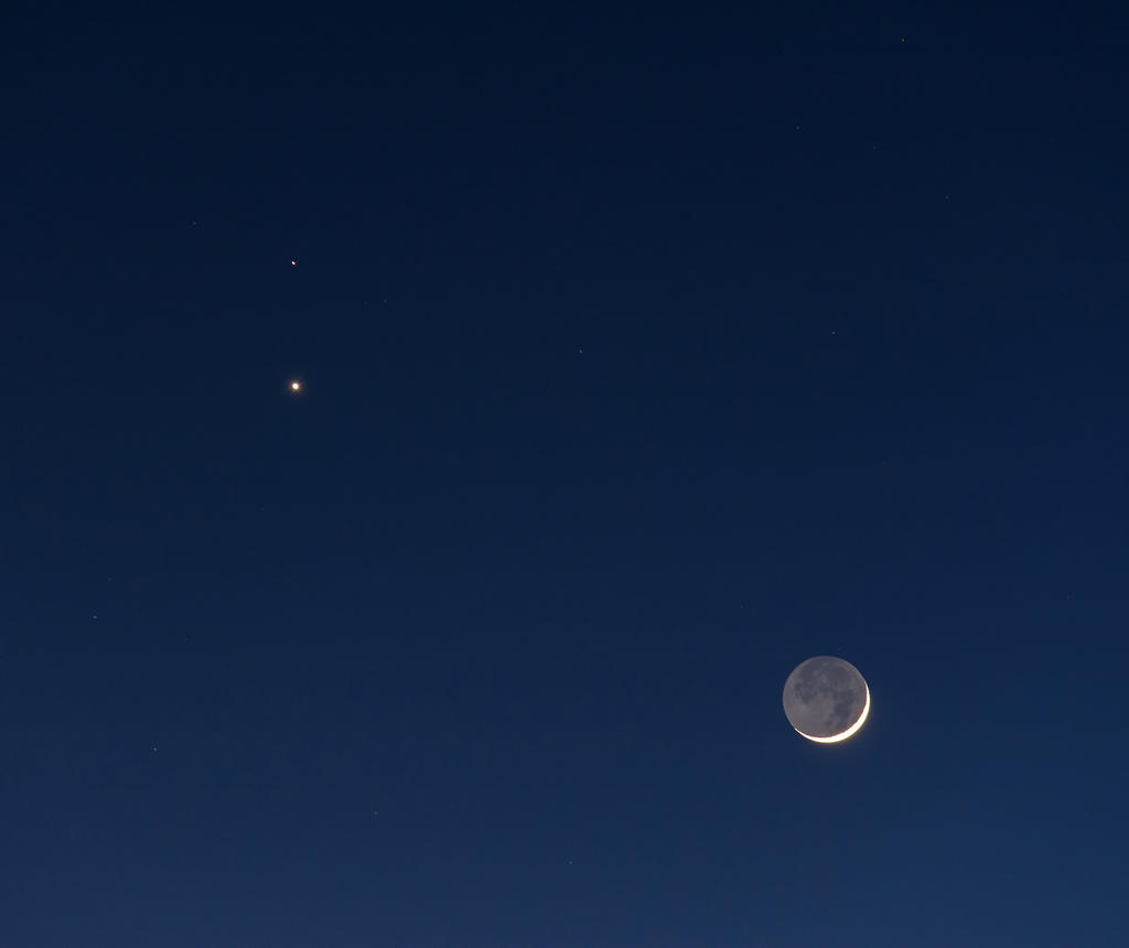 Venus Mars A Mars Venus And Moon