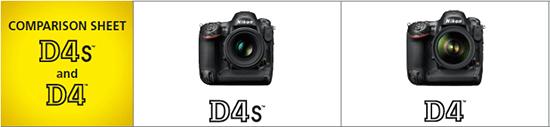 Nikon-D4s-vs-D4-specifications-comparison