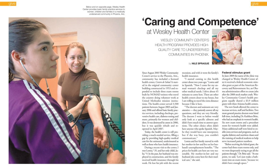 Magazine Article: Wesley Health Center, Phoenix, Arizona