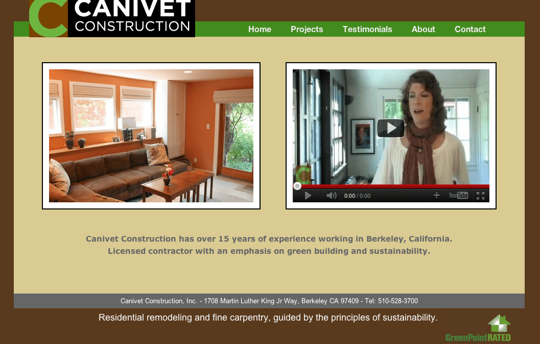 New website: Canivet Construction
