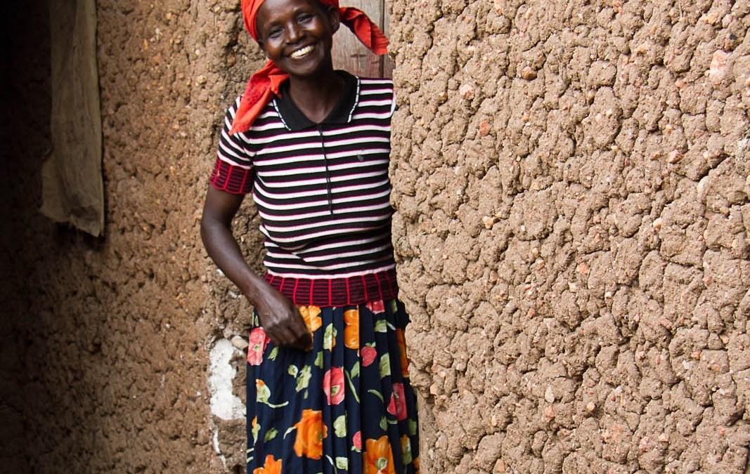 Photo: Woman in door to her home, Rwanda