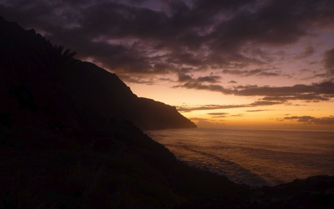 Photo: Kalalau Sunset, Napali Coast, Kauai, USA.