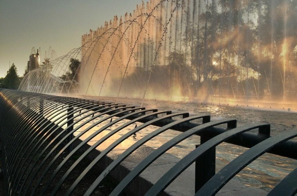 Photo: Fountain at Parque Balmaceda, Santiago de Chile