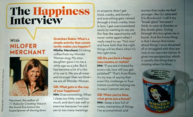 The Happiness Interview with Nilofer Merchant in Good Housekeping  January 2013 edition