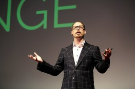Columbia Business School Professor Adam Galinsky delivers his TEDx New York Talk, How to Speak up for Yourself. (PRNewsFoto/Columbia Business School)