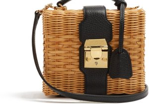Mark Cross rattan bag
