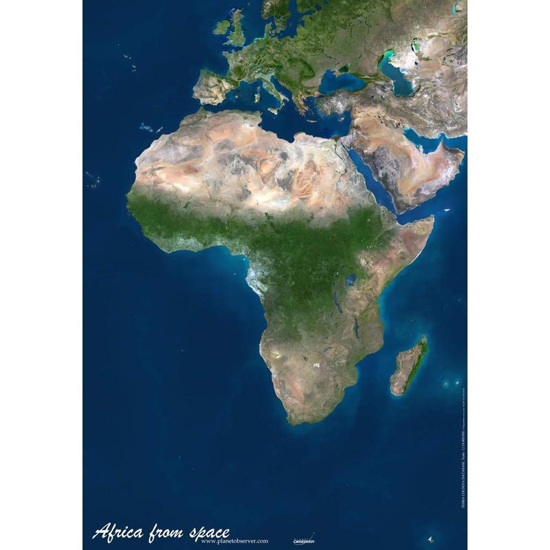 Planet Observer  mapa del continente africano