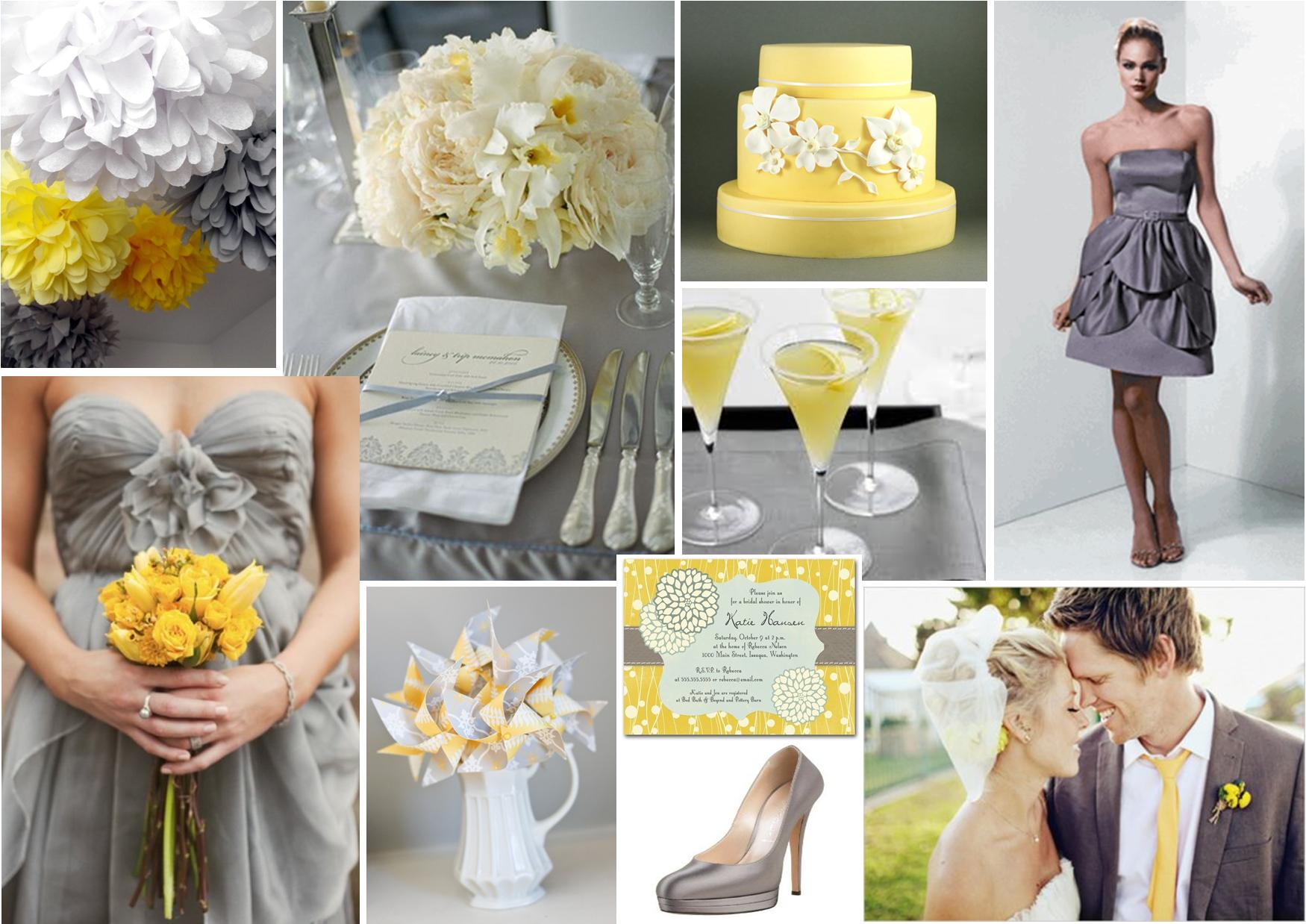Results For Yellow And Grey Wedding Decor Ideas