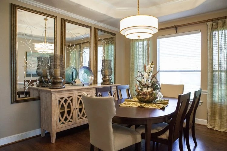 20 Beautiful Dining Rooms Incorporating Mirrors - Beautiful Dining Rooms