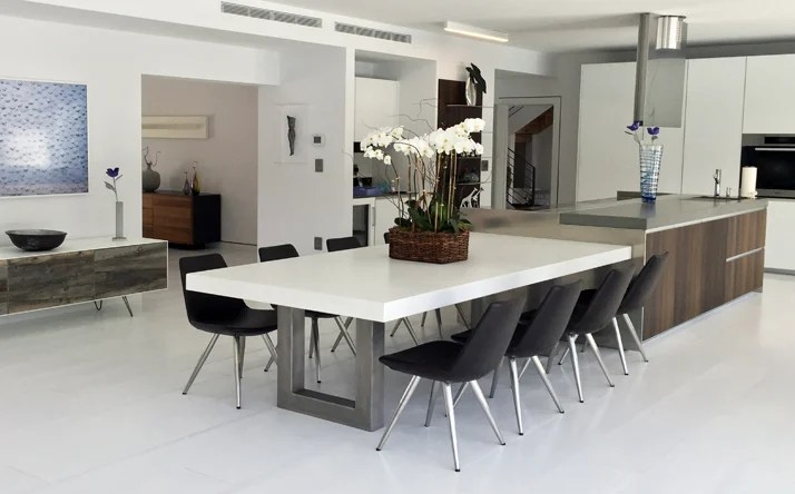 20 Beautiful Dining Rooms Incorporating Concrete - Beautiful Dining Rooms
