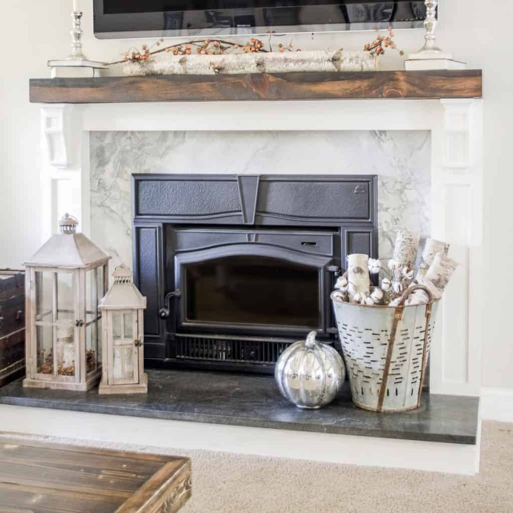 Update Old Brick Fireplace How To Cover Your Brick Fireplace Modern Farmhouse Style