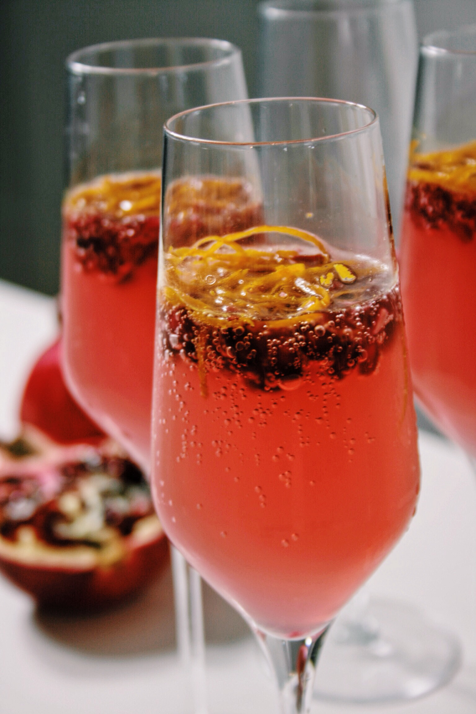 Welkomstdrankje Recept Prosecco Cocktail Met Gin Granaatappel Nina Loves Food