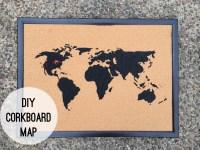 DIY Corkboard Map | Nine and Three Quarters