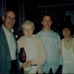 1990, With husband Shirley and children Jim and Agnes