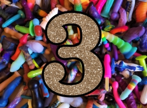 Blogiversary 3 and the Great Dildo Weigh-In Contest