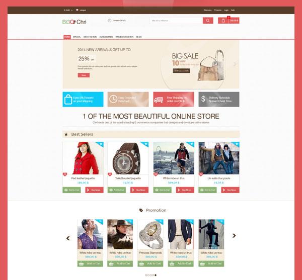 25 Free Beautiful eCommerce PSD Template - ninodezign