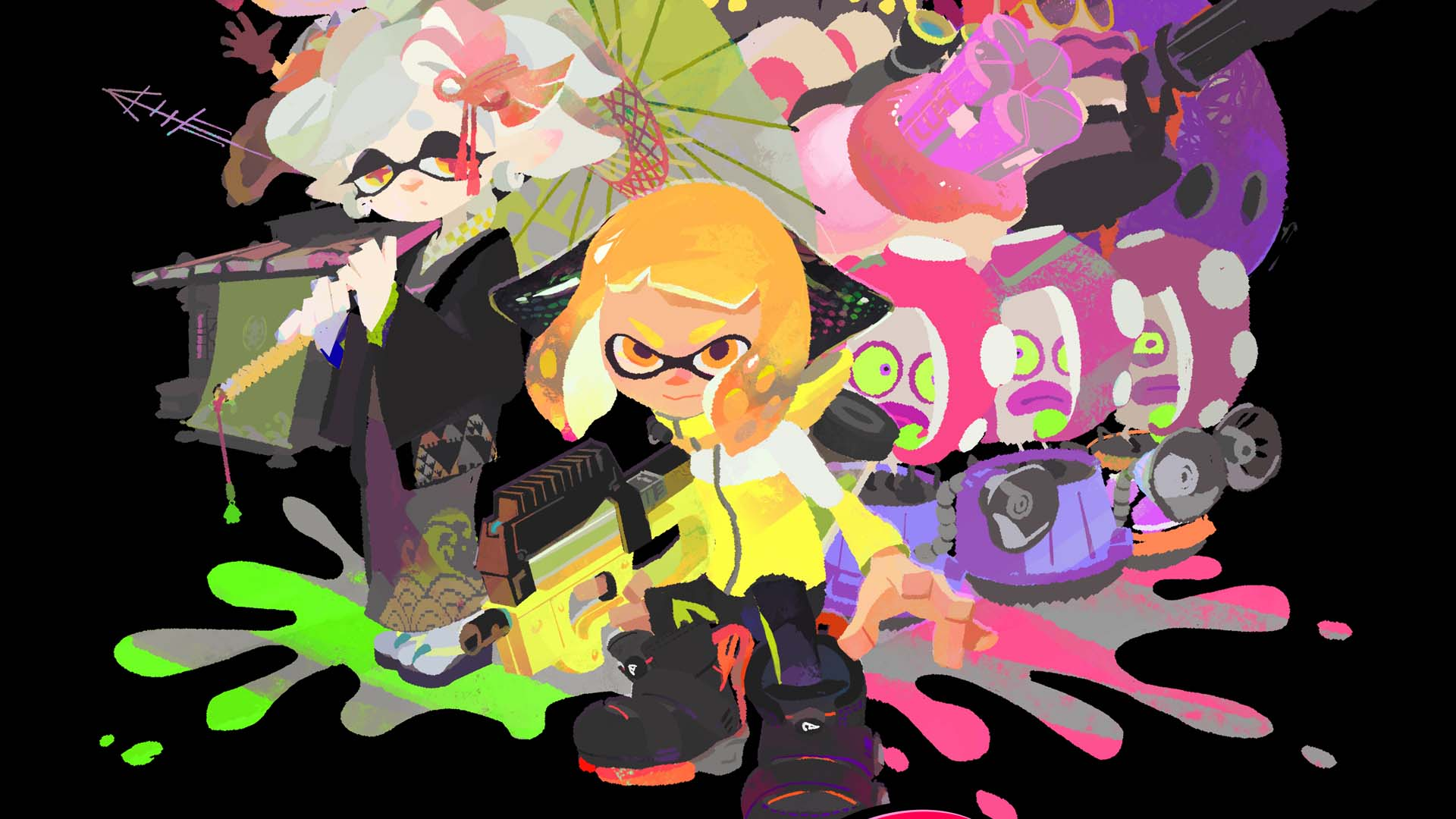 Two Girls Wallpaper Splatoon 2 S Single Player Campaign Gets An Ink Redible