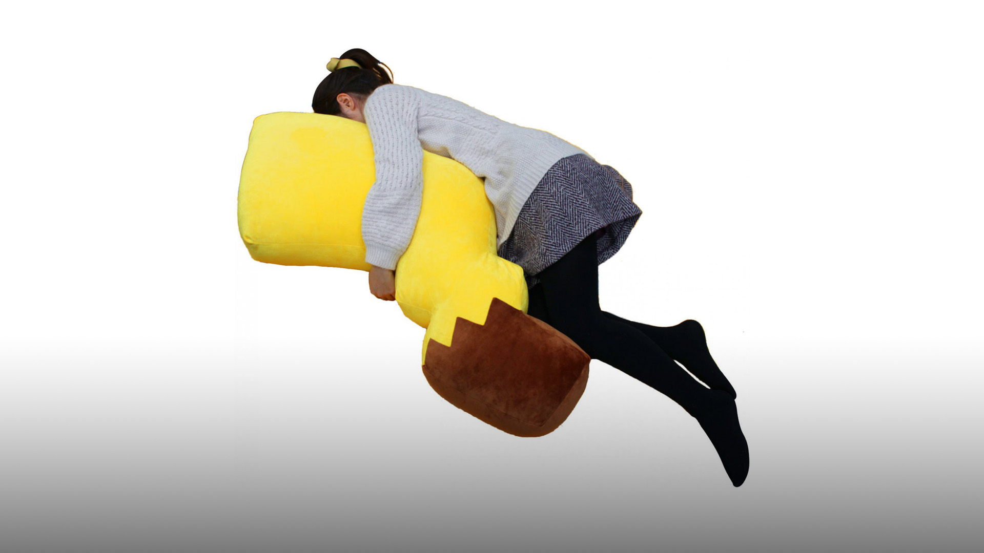 Check out this huge Pikachu tail pillow up for pre