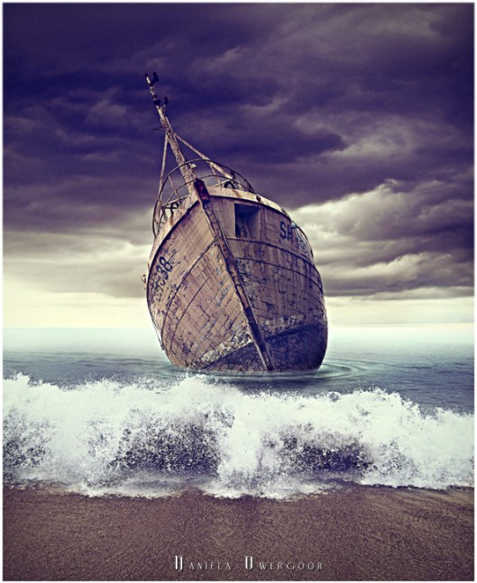 dead ship photo manipulation by DXPO