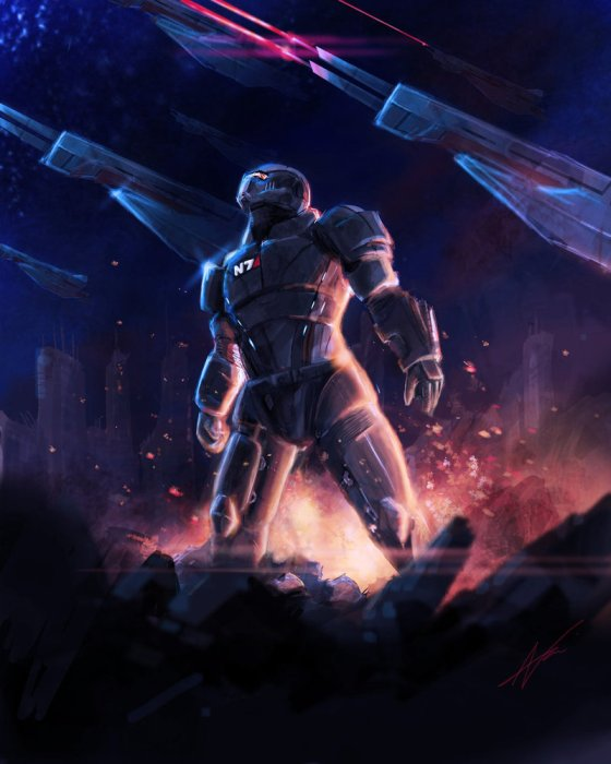 me3__finish_the_fight_by_arkis robot digital painting