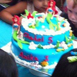 A rather blurry shot of the cake