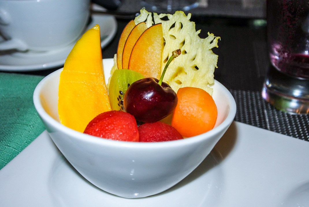 The mixed fruit salad