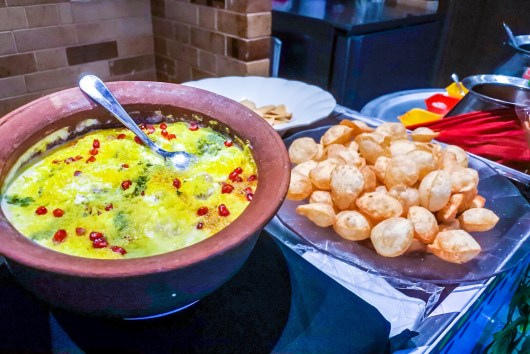 The chaat on offer