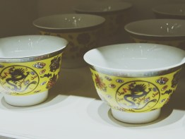Pretty tea cups perfect for drinking Chinese teas