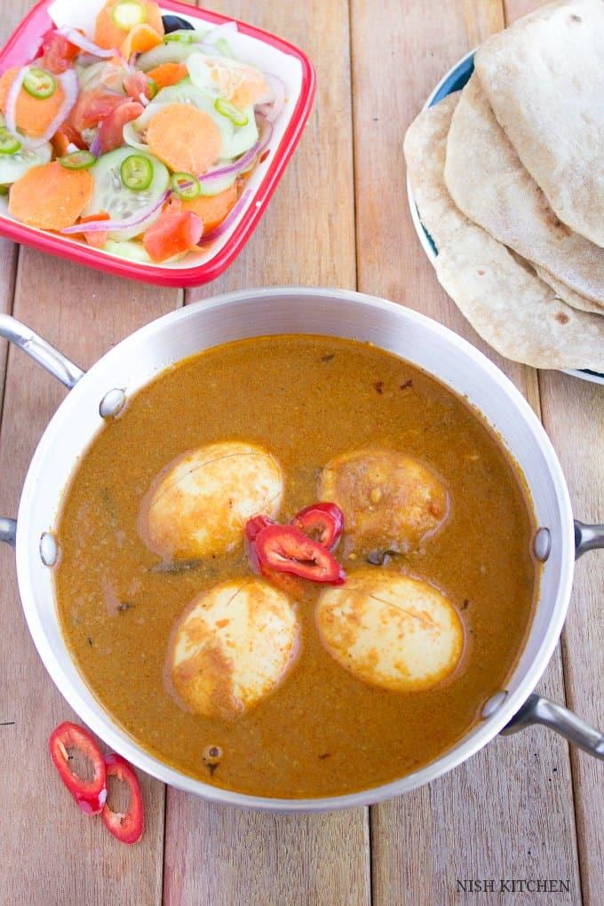Egg masala curry | Nish Kitchen