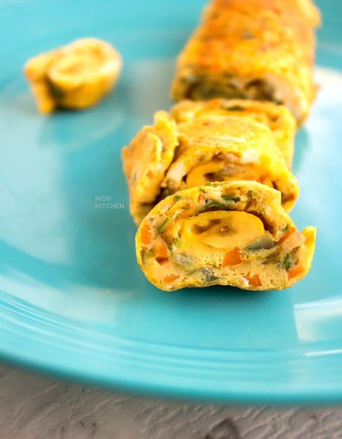 masala omelette rolls